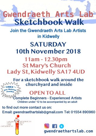 GAL sketchbook walk poster 2018 November