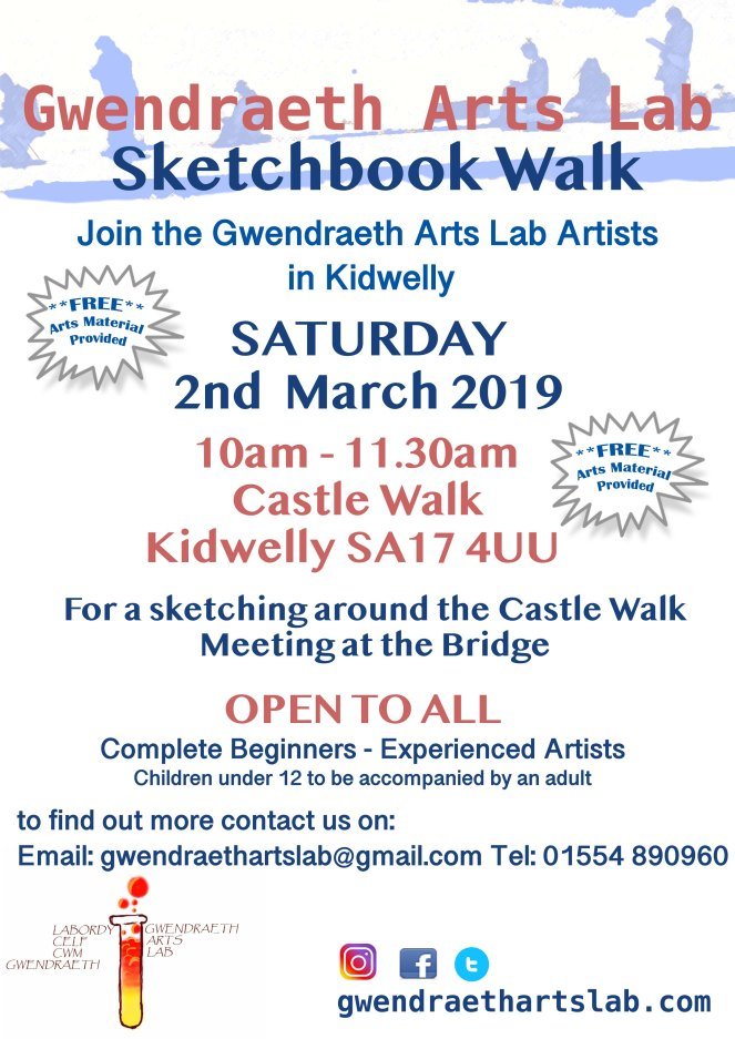 GAL sketchbook walk poster 2019 March v2
