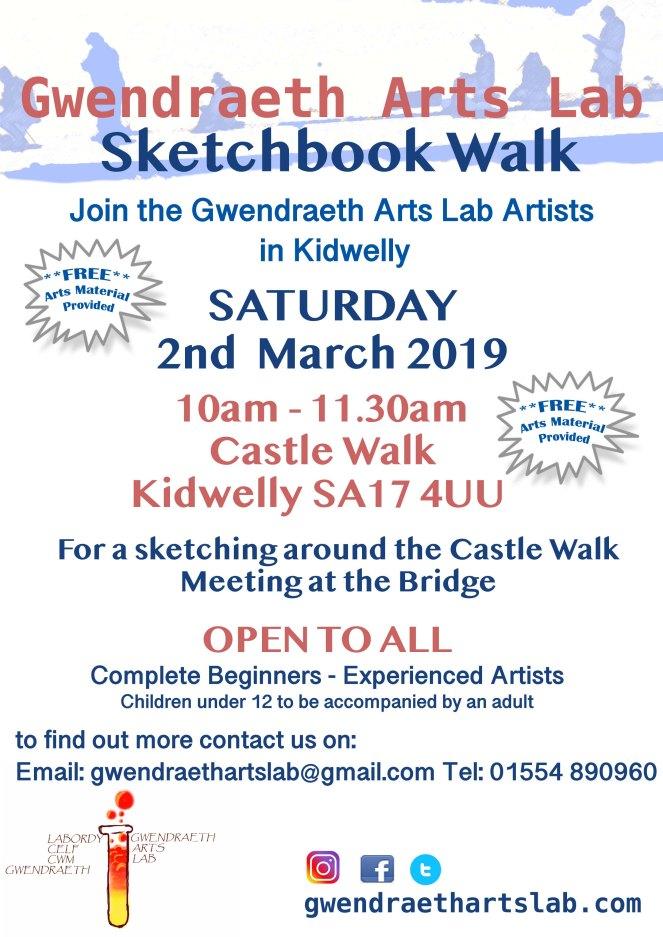 GAL sketchbook walk poster 2019 March v2