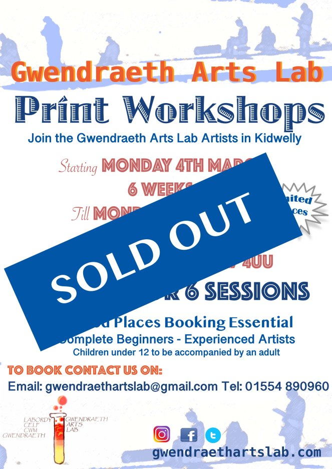 GALS Print Workshop poster SOLD OUT 2019 March