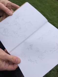 Gwendraeth Arts Lab Sketchbook Walk 2nd March 2019 at Burns