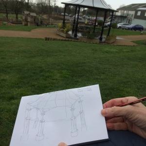 Gwendraeth Arts Lab Sketchbook Walk 2nd March 2019 at Burns