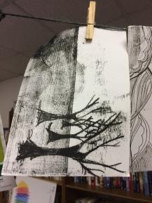 Gwendraeth Arts Lab Print Workshop March 2019