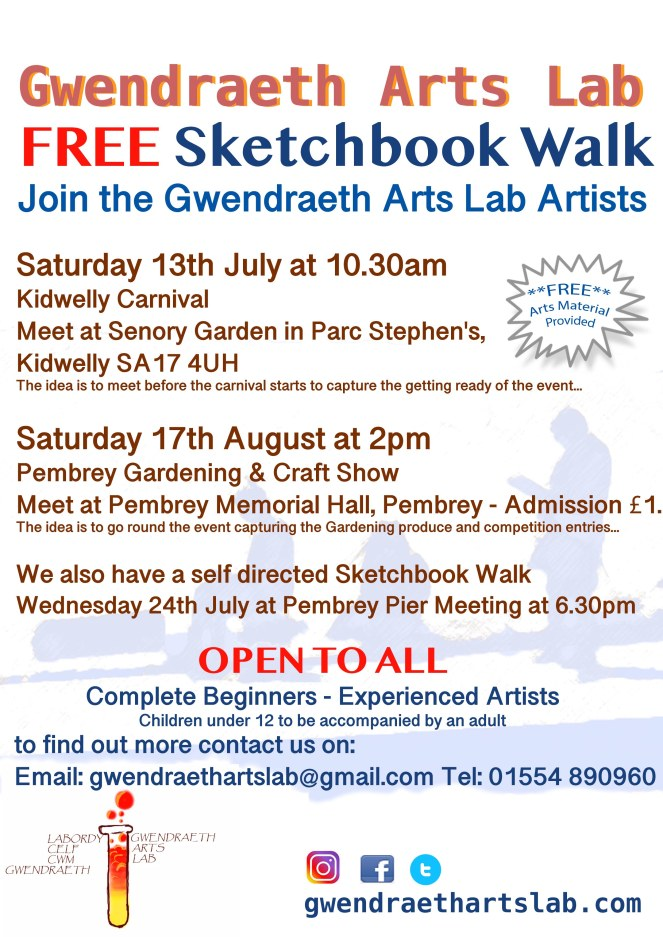 GAL sketchbook walk poster 2019 July