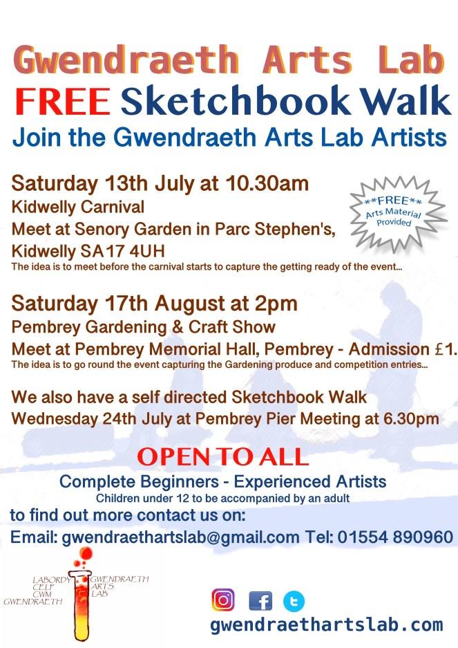 GAL sketchbook walk poster 2019 July