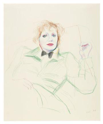 David Hockney CELIA WITH BOW TIE, 1974