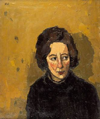 John-Kyffin-Williams-Portrait-of-a-Young-Woman-Looking-Left
